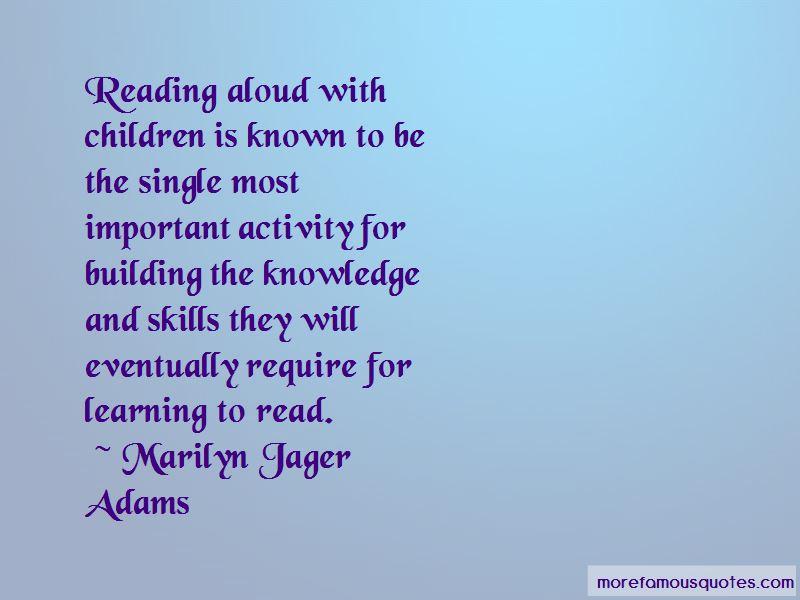 Marilyn Jager Adams Quotes