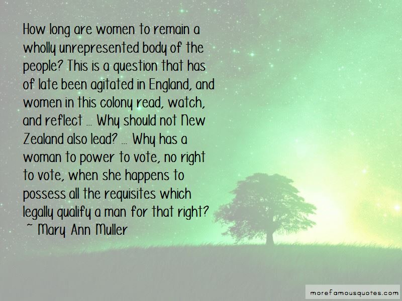 Mary Ann Muller Quotes