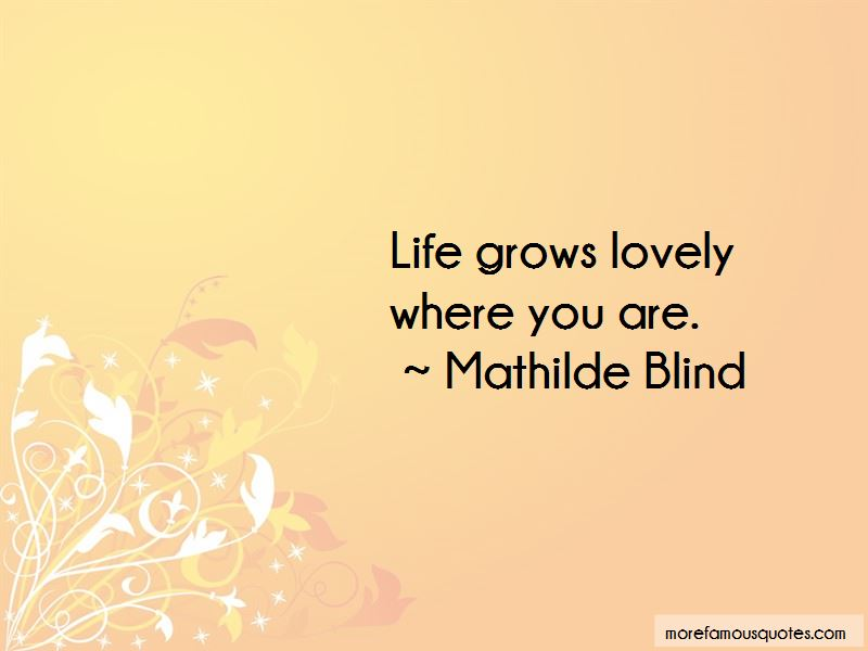 Mathilde Blind Quotes Pictures 4