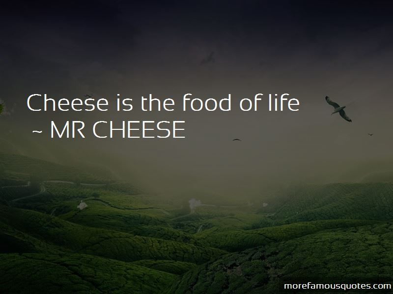 MR CHEESE Quotes