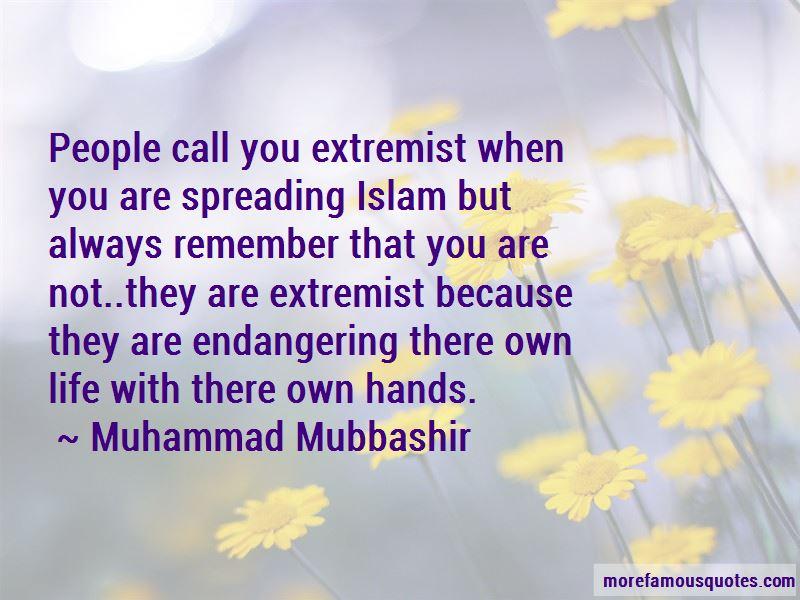 Muhammad Mubbashir Quotes