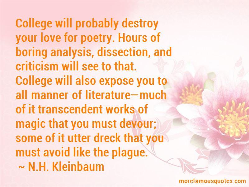 N.H. Kleinbaum Quotes Pictures 2