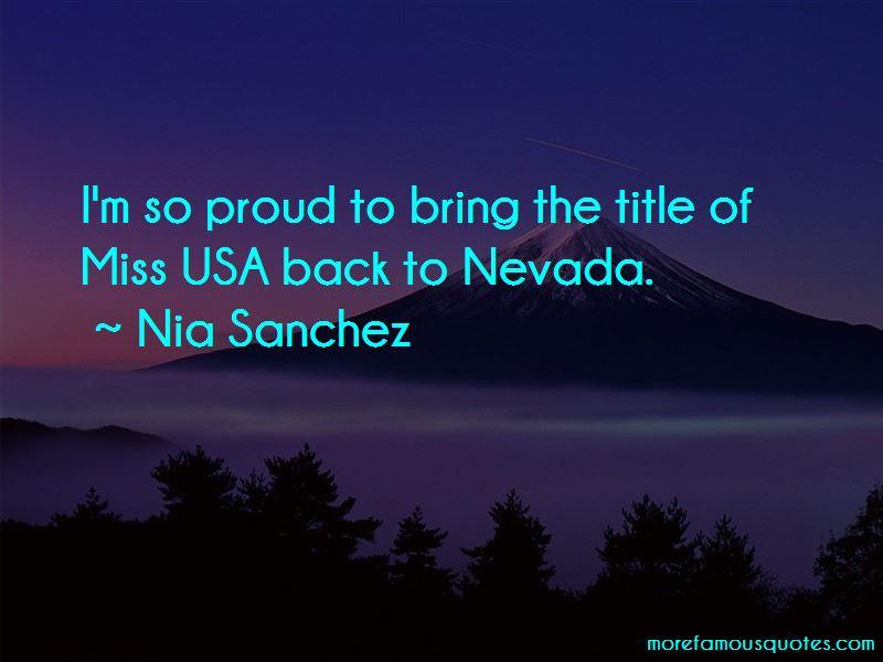 Nia Sanchez Quotes