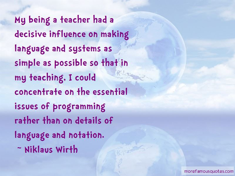 Niklaus Wirth Quotes Pictures 2