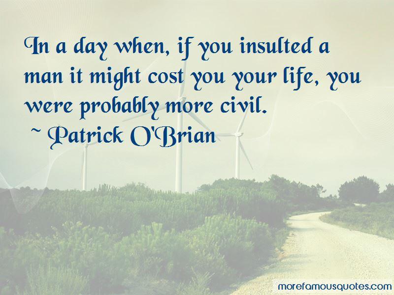 Patrick O'Brian Quotes