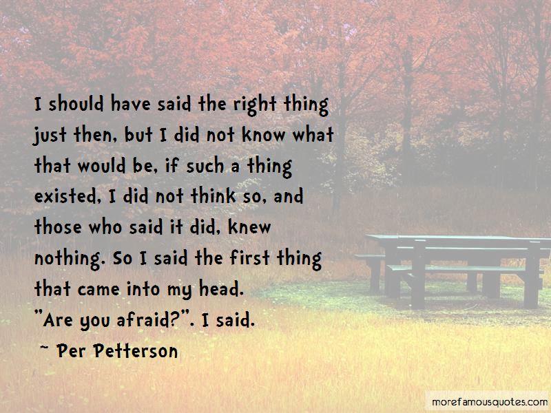 Per Petterson Quotes