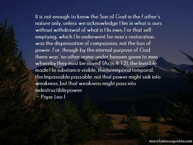 Pope Leo I Quotes