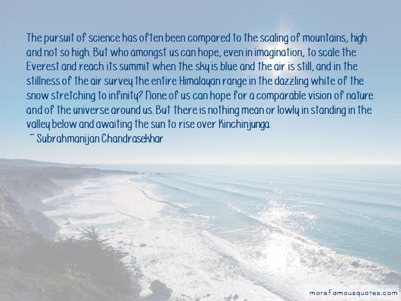 Subrahmanijan Chandrasekhar Quotes