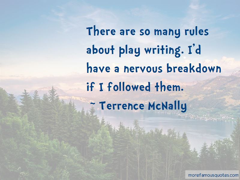 Terrence McNally Quotes Pictures 2