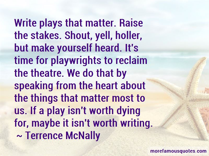 Terrence McNally Quotes