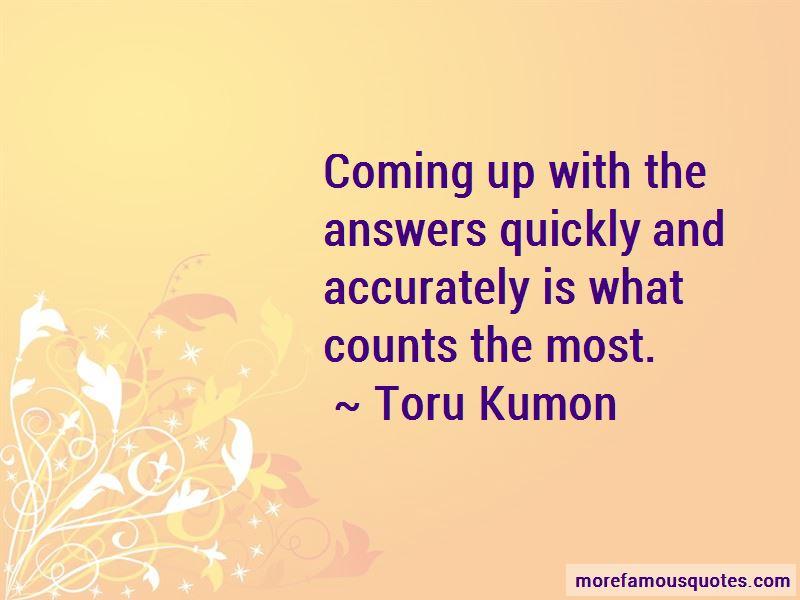 Toru Kumon Quotes