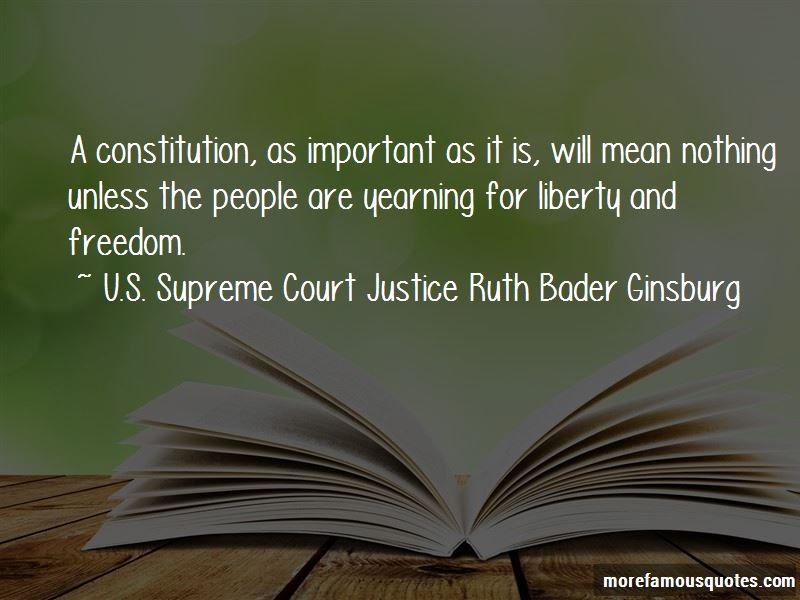 U.S. Supreme Court Justice Ruth Bader Ginsburg Quotes