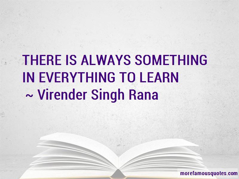 Virender Singh Rana Quotes