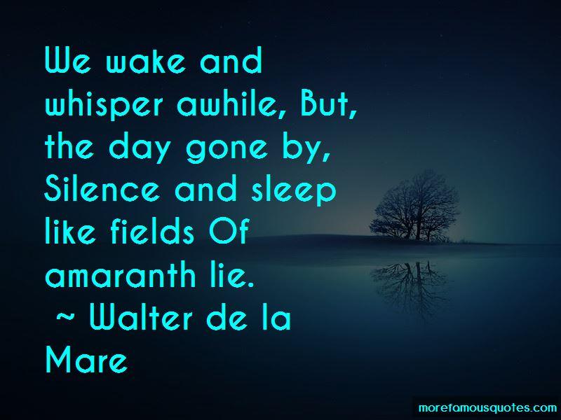 Walter De La Mare Quotes Pictures 3