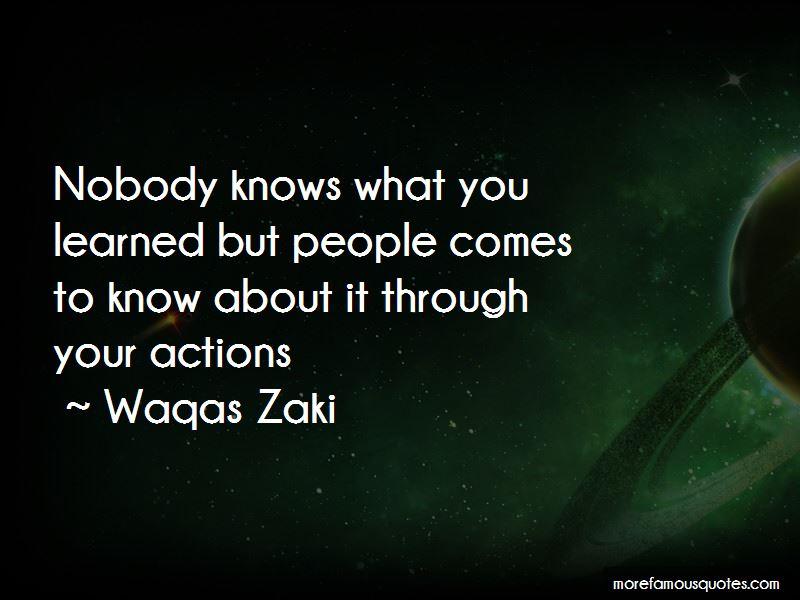 Waqas Zaki Quotes