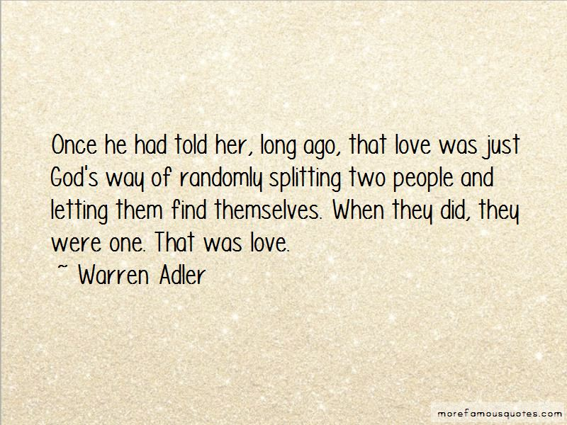 Warren Adler Quotes