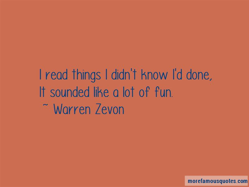 Warren Zevon Quotes Pictures 3
