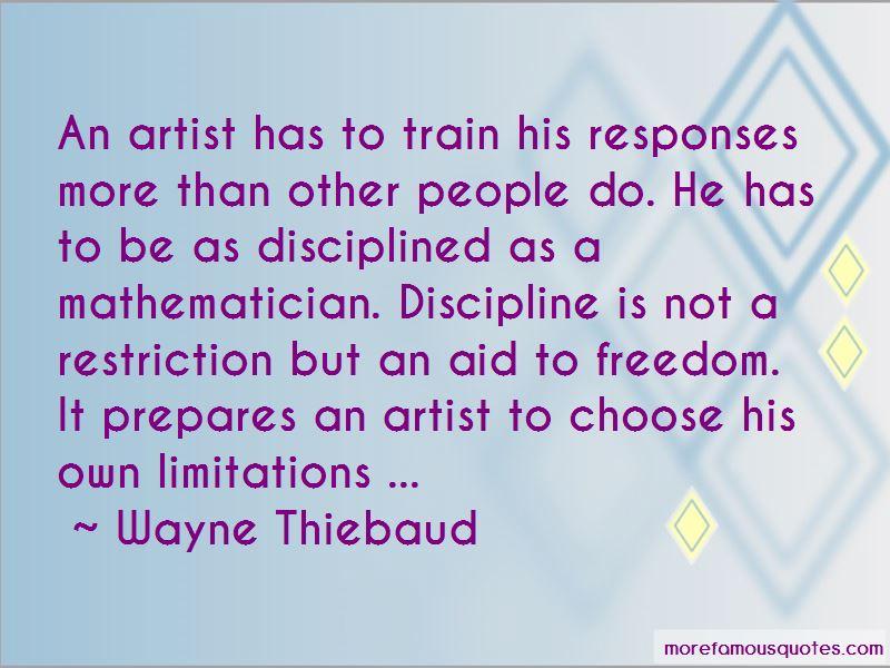 Wayne Thiebaud Quotes