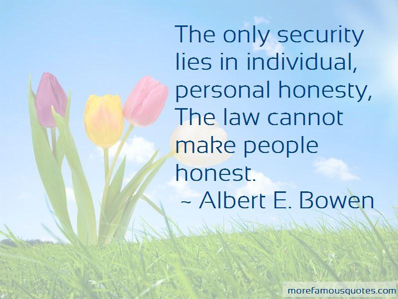 Albert E. Bowen Quotes