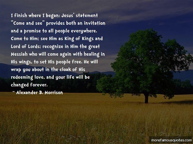 Alexander B. Morrison Quotes