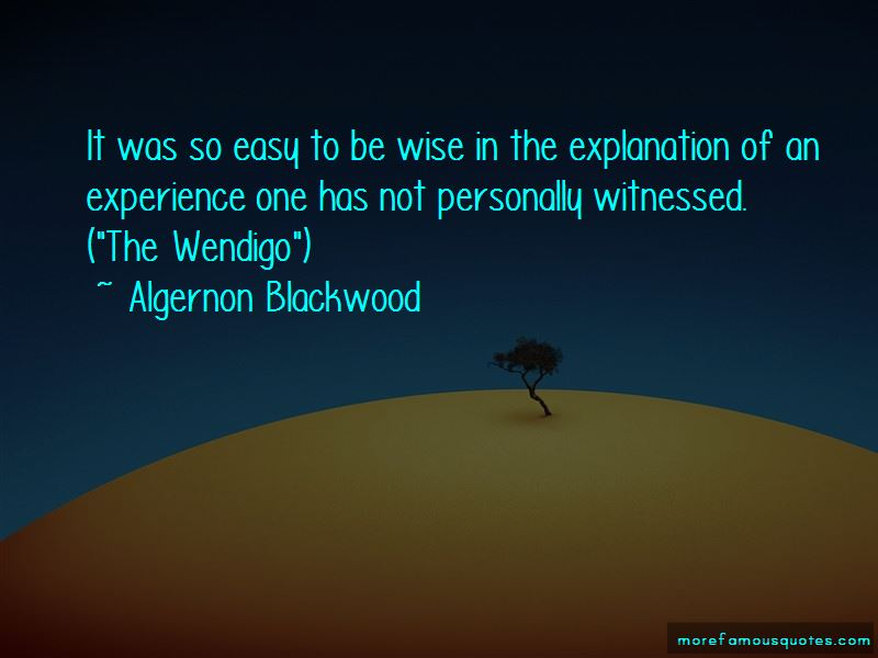 Algernon Blackwood Quotes Pictures 2