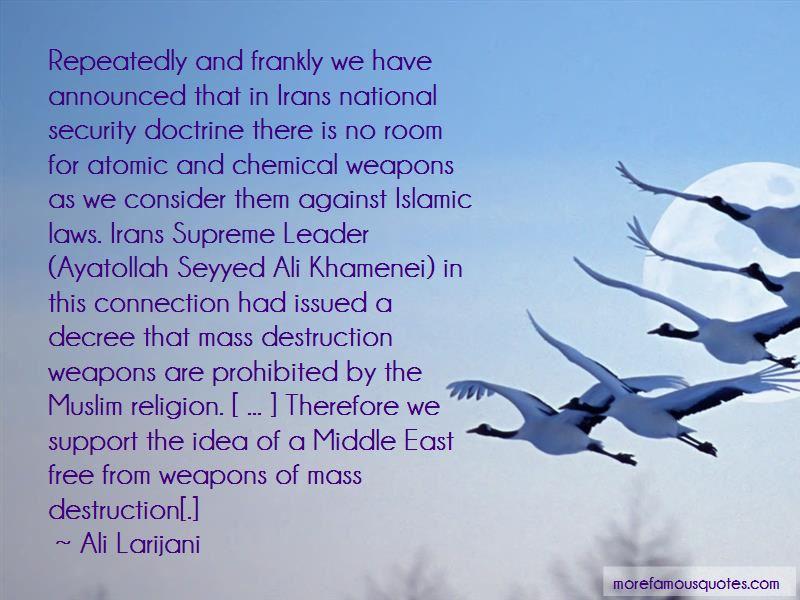 Ali Larijani Quotes