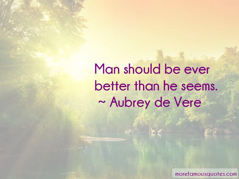 Aubrey De Vere Quotes