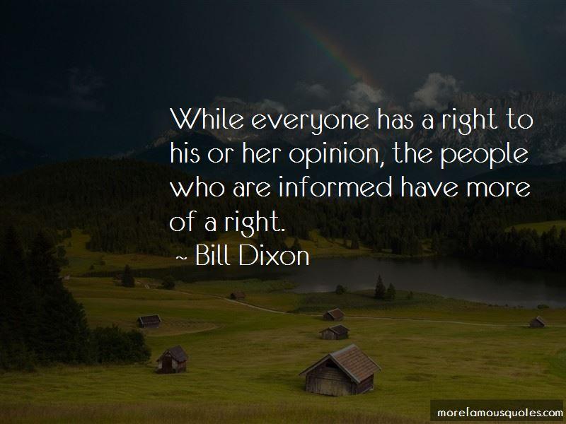 Bill Dixon Quotes