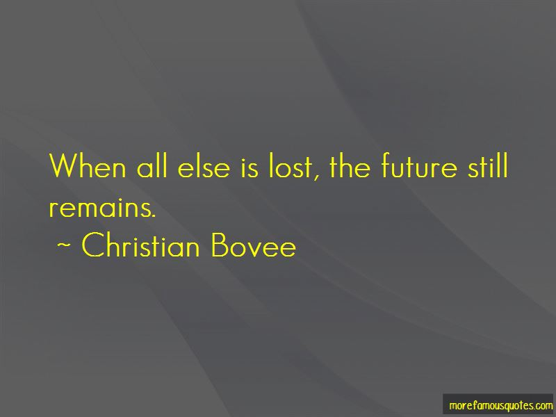 Christian Bovee Quotes