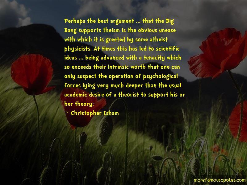 Christopher Isham Quotes