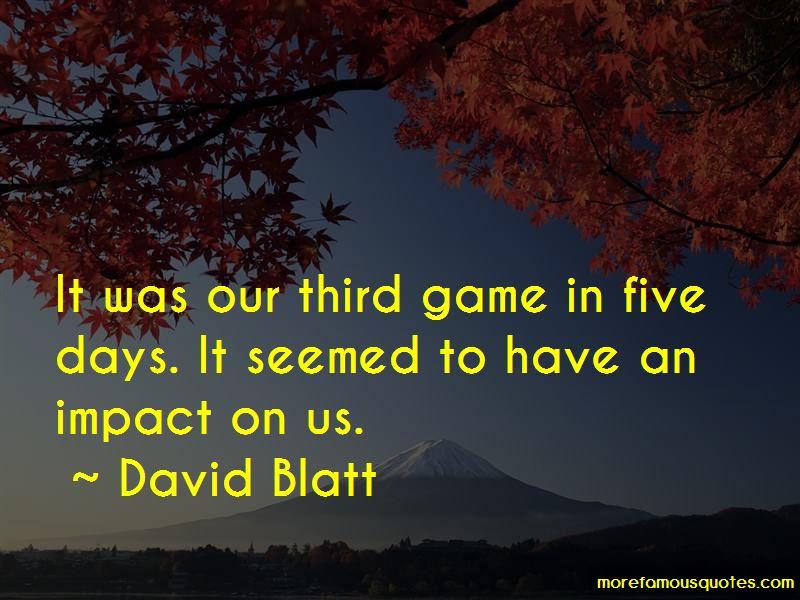 David Blatt Quotes