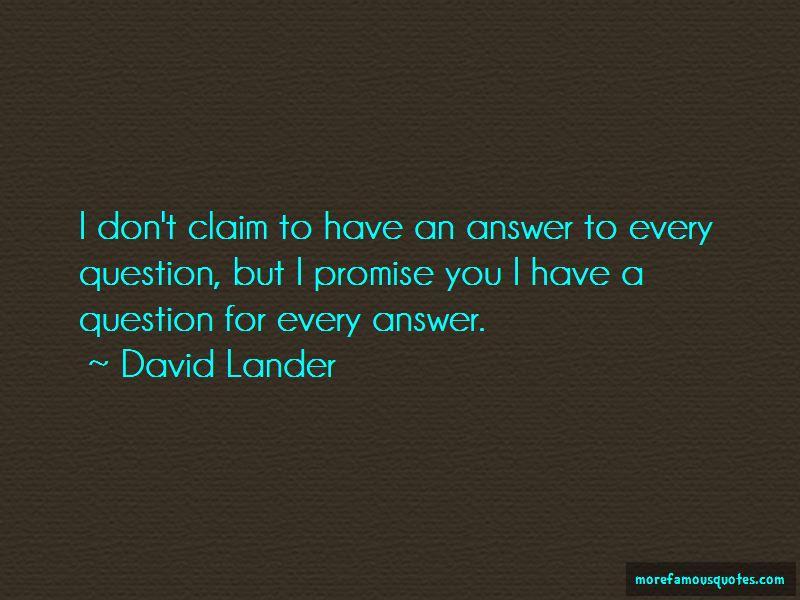 David Lander Quotes