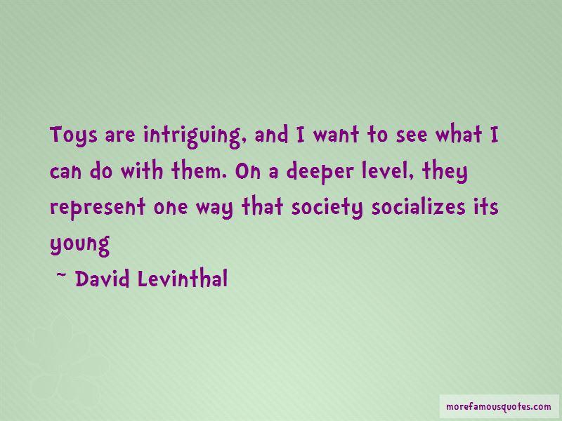 David Levinthal Quotes