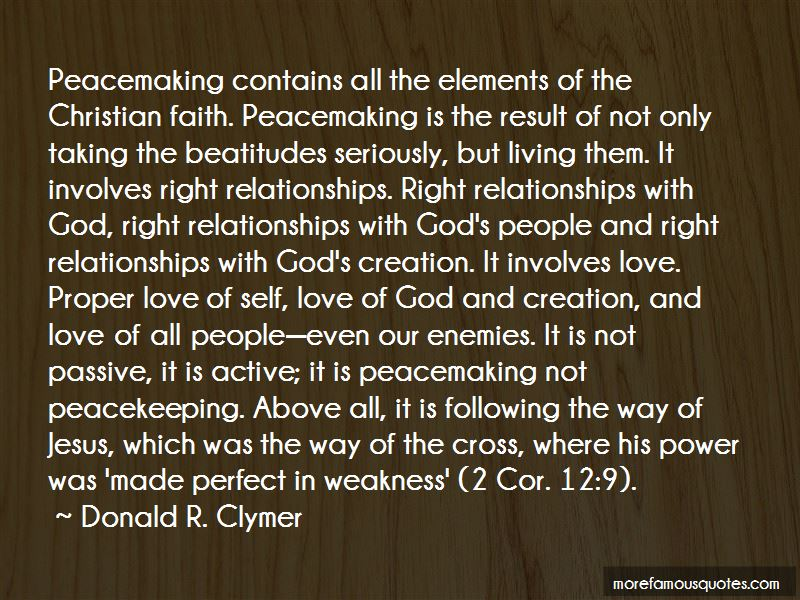 Donald R. Clymer Quotes
