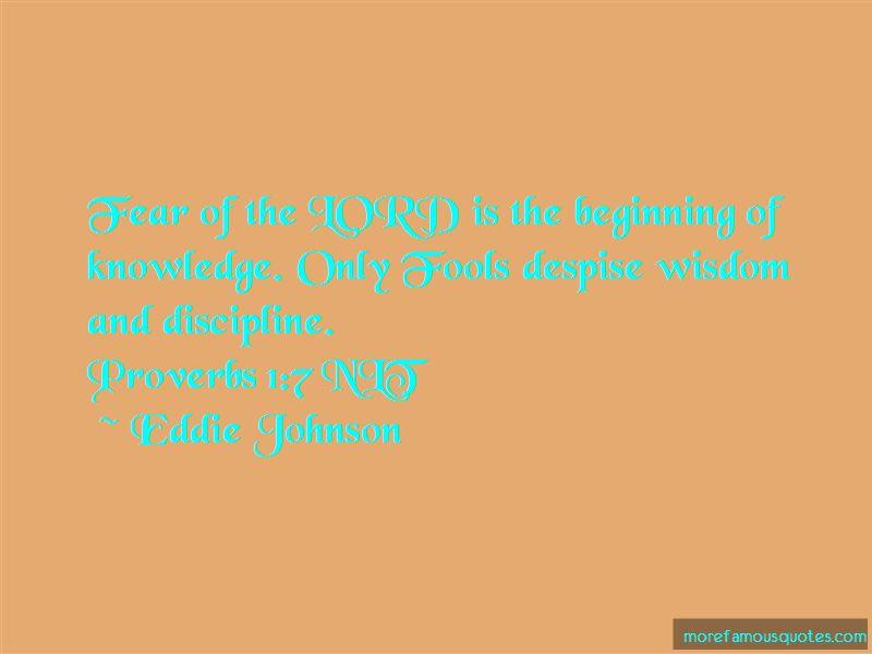 Eddie Johnson Quotes
