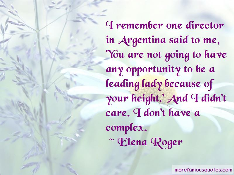Elena Roger Quotes Pictures 2