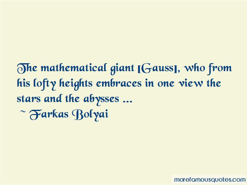 Farkas Bolyai Quotes Pictures 4