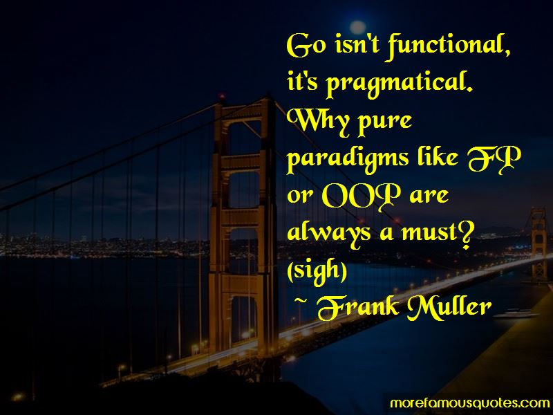 Frank Muller Quotes