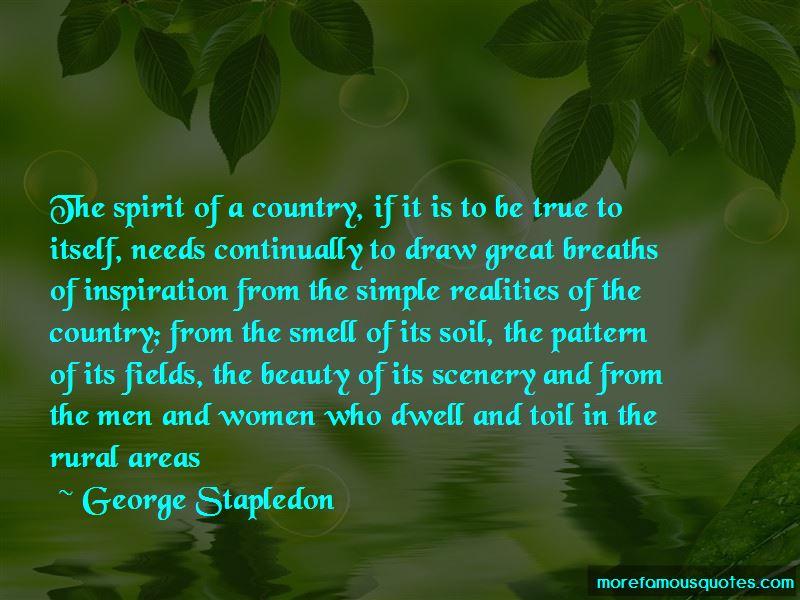 George Stapledon Quotes