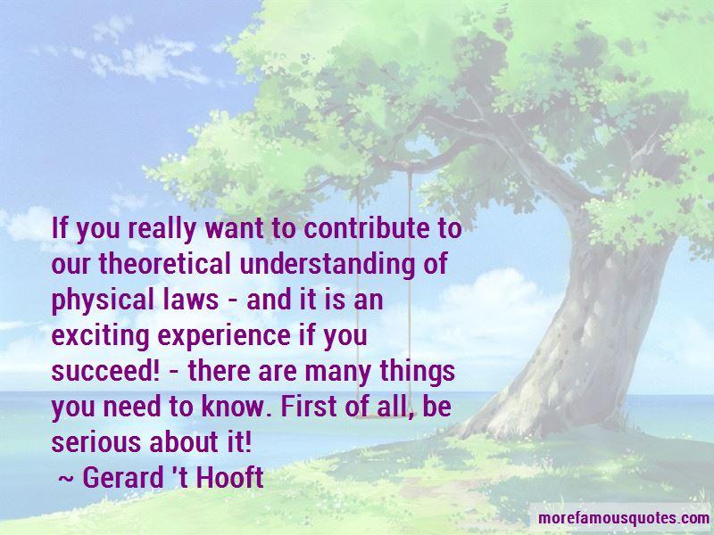 Gerard 't Hooft Quotes Pictures 2