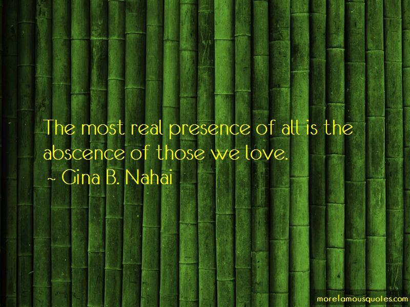 Gina B. Nahai Quotes