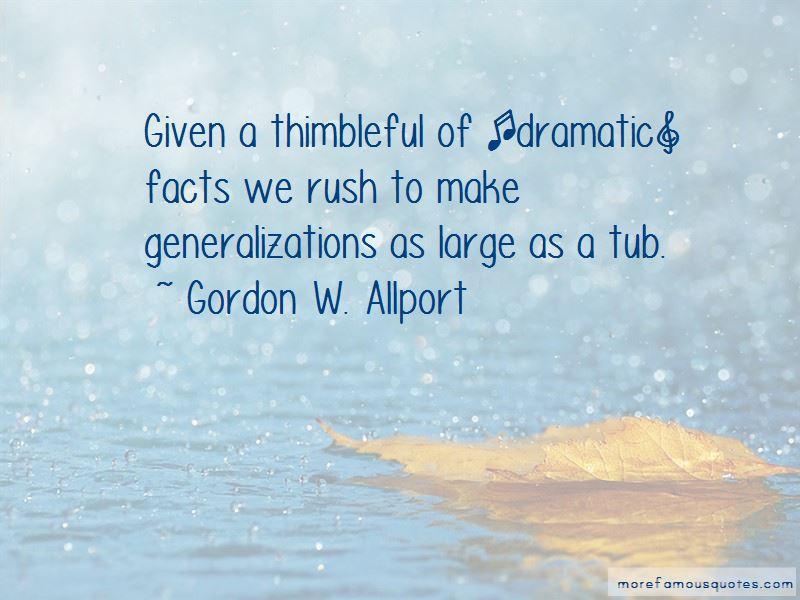 Gordon W. Allport Quotes