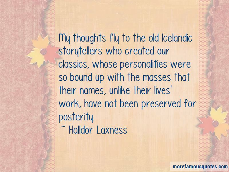 Halldor Laxness Quotes