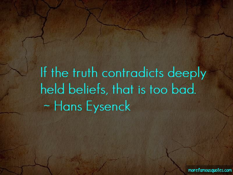 Hans Eysenck Quotes
