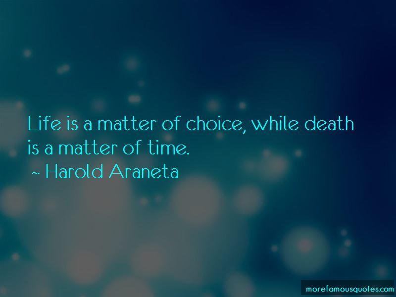 Harold Araneta Quotes