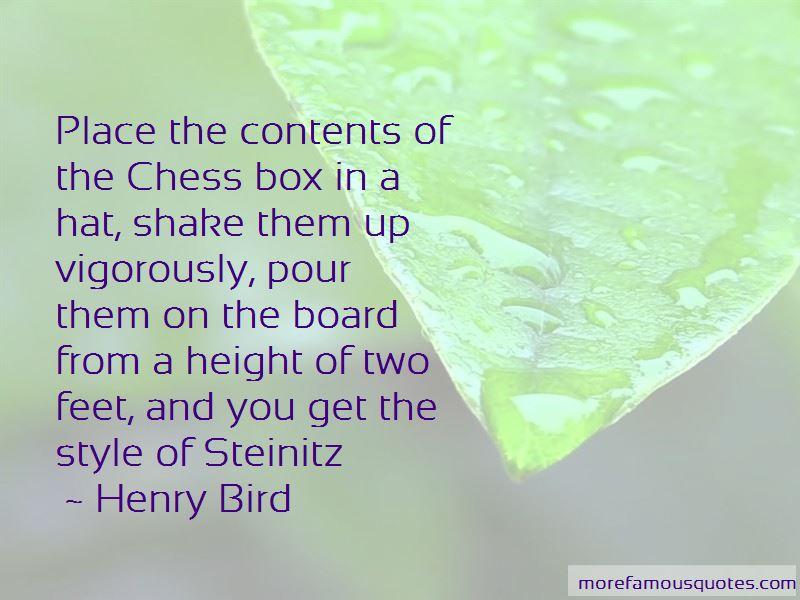 Henry Bird Quotes
