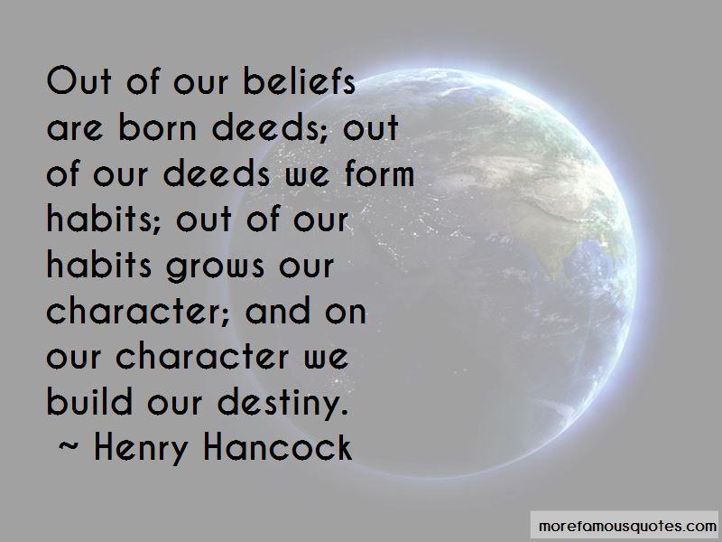Henry Hancock Quotes