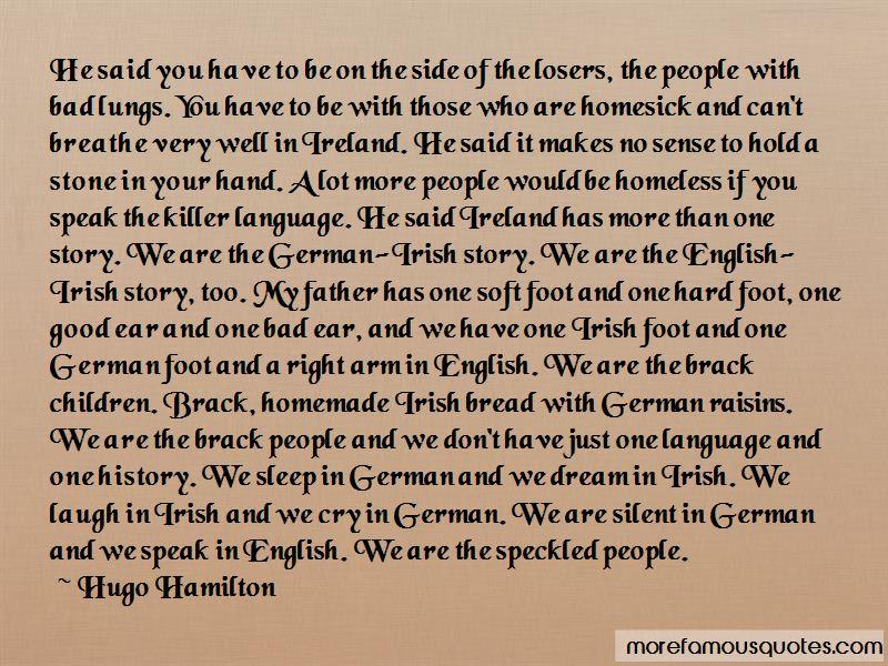 Hugo Hamilton Quotes Pictures 3