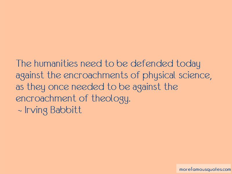 Irving Babbitt Quotes Pictures 2