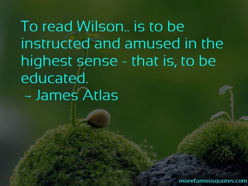 James Atlas Quotes